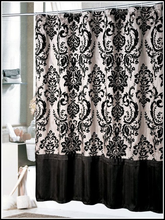 White And Black Kitchen Curtains