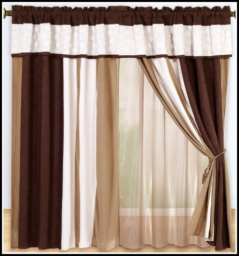 White And Brown Shower Curtains