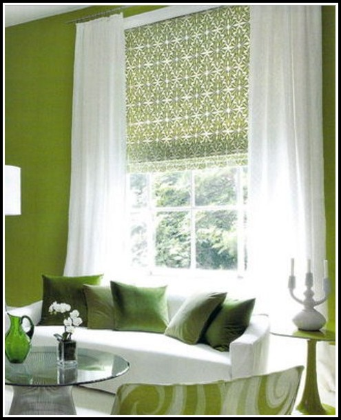 White And Green Shower Curtains