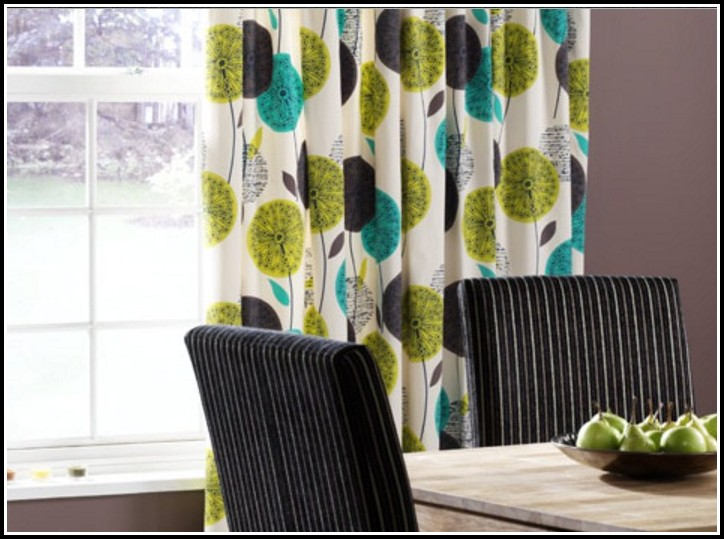 White And Green Voile Curtains