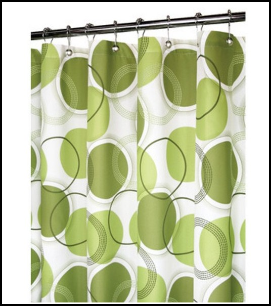 White And Lime Green Curtains