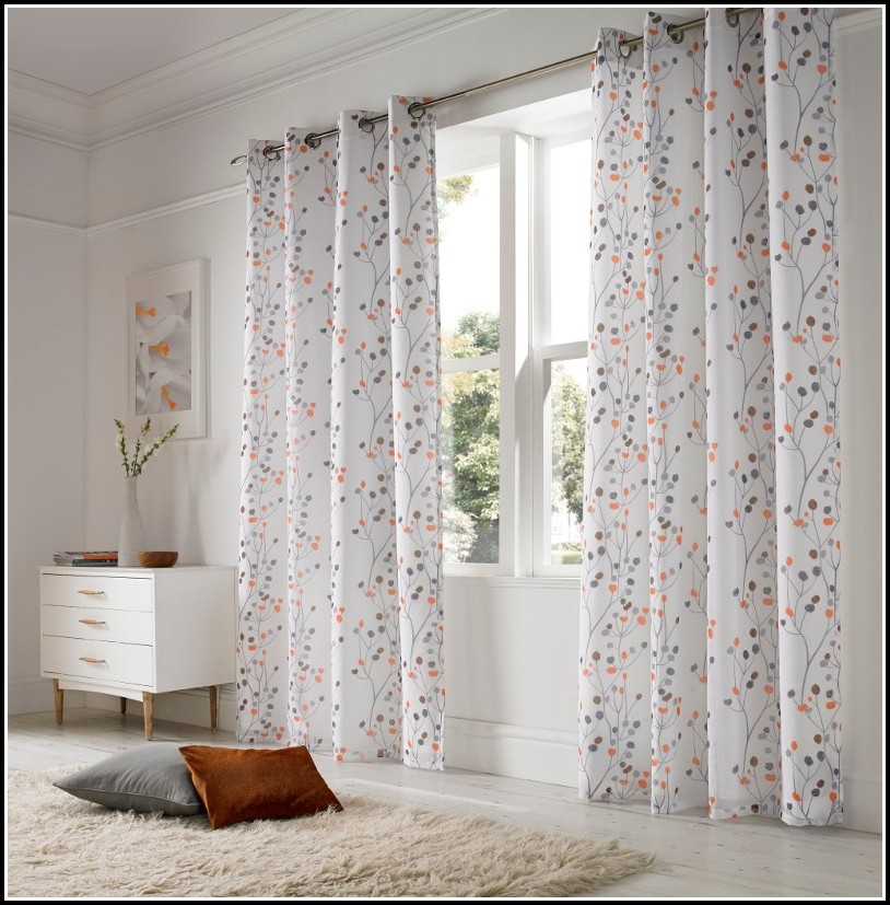 White And Orange Shower Curtains
