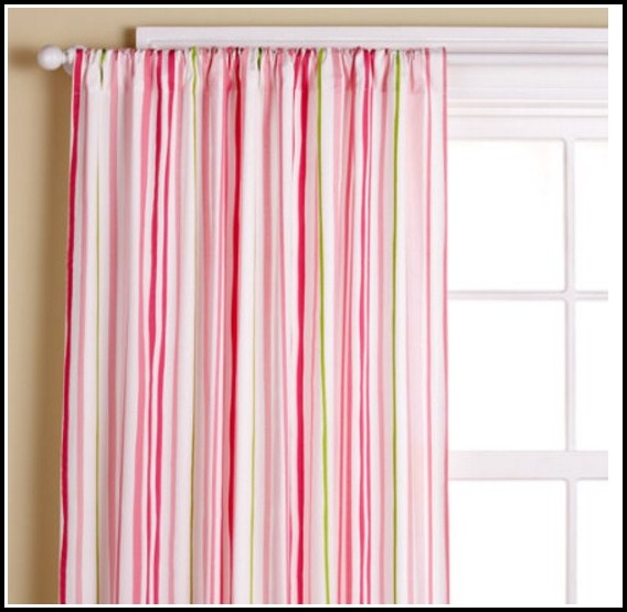 White And Pink Nursery Curtains