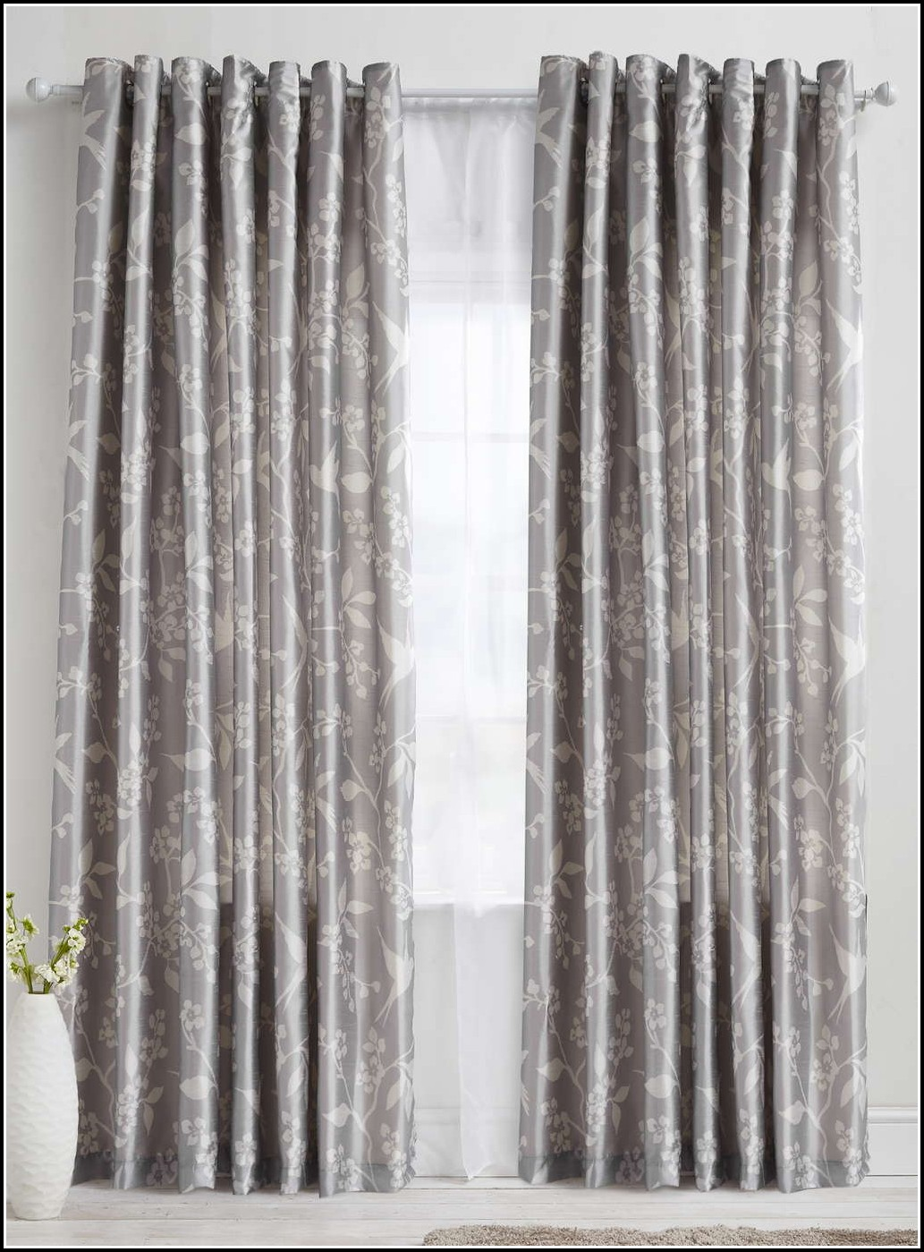 White And Silver Eyelet Curtains