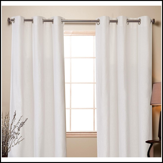 White Cotton Curtain Panels 84