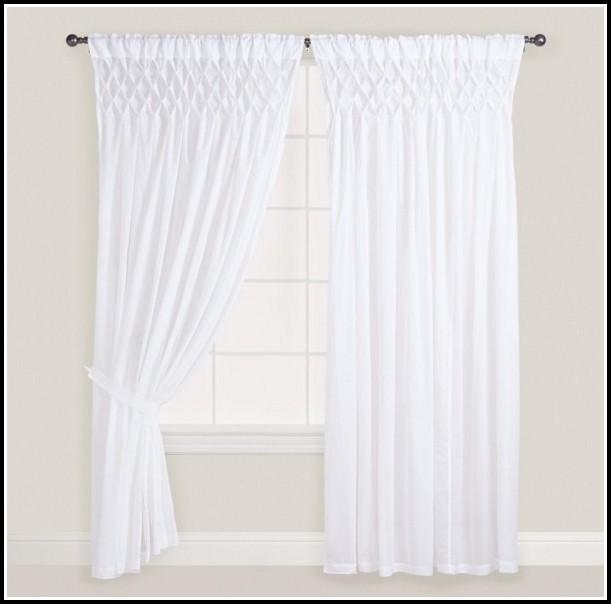 White Cotton Voile Curtain Panels