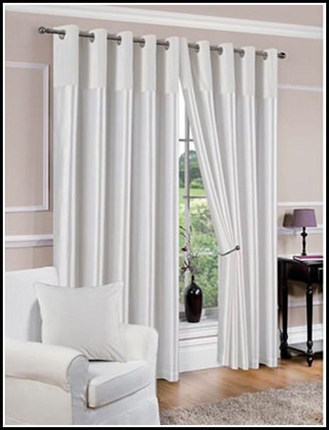 White Faux Silk Curtain Fabric