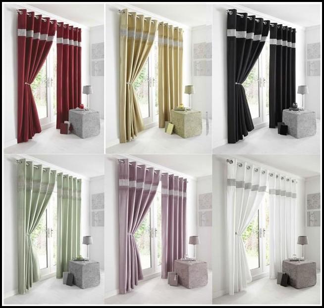 White Faux Silk Curtain Panels