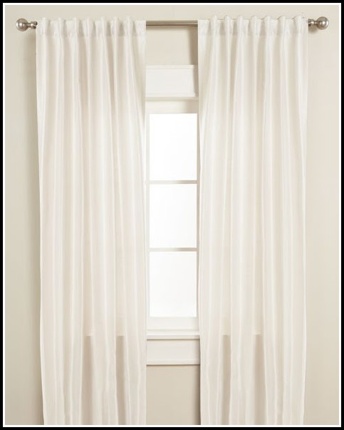 White Faux Silk Curtains Uk