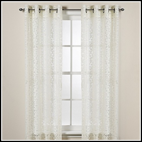 White Grommet Top Curtain Panels