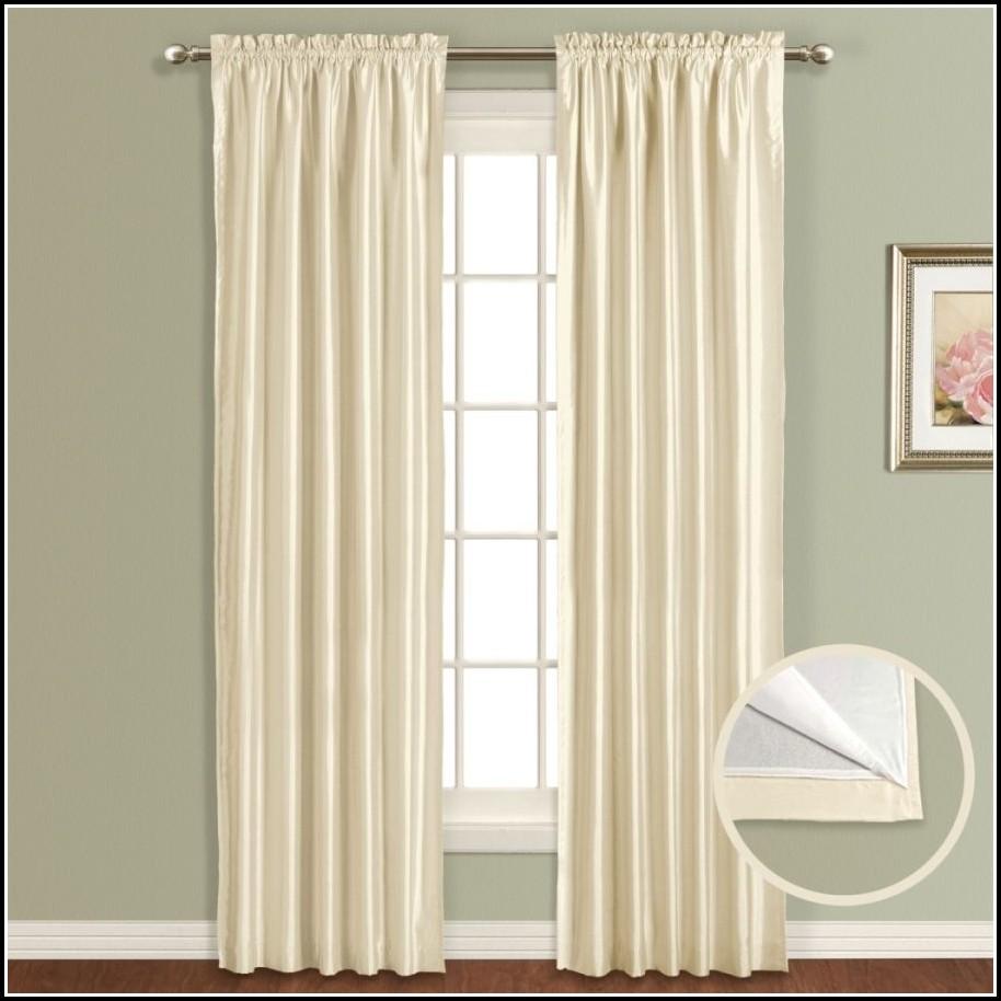 White Ruffle Room Darkening Curtains