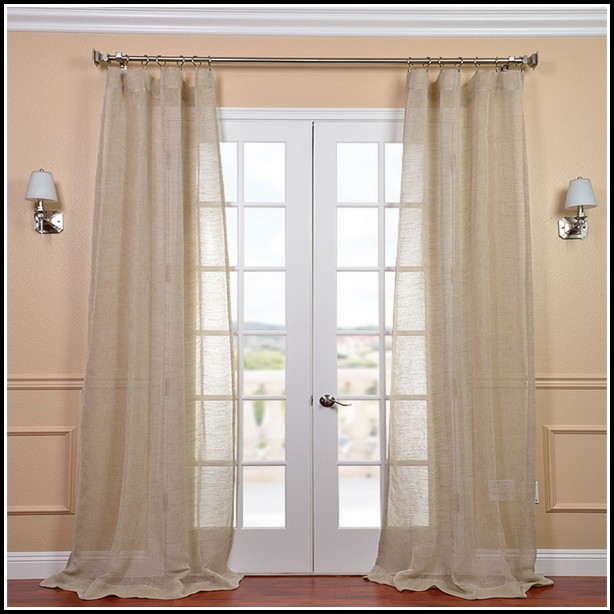 White Sheer Curtain Panels 96