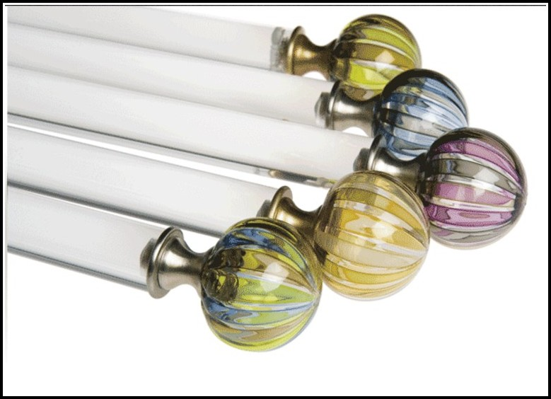 Wood Curtain Rods And Finials