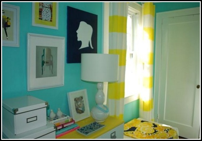 Yellow And White Striped Kitchen Curtains