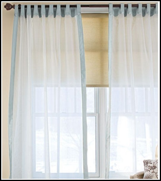 3 Rod Pocket Sheer Curtains