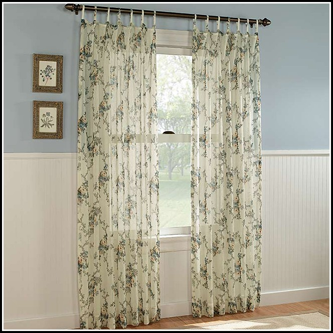 95 Inch Sheer Grommet Curtains