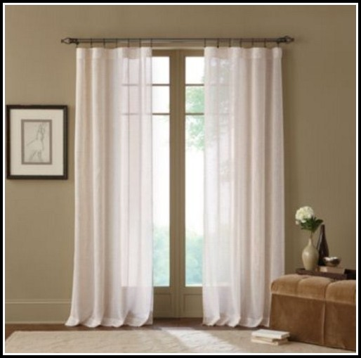 95 Inch White Linen Curtains