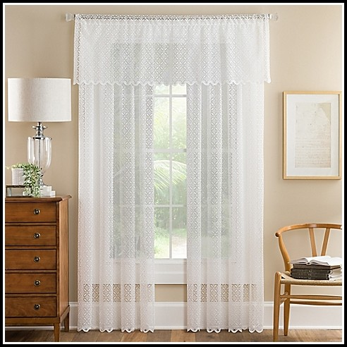95 Inch White Sheer Curtains