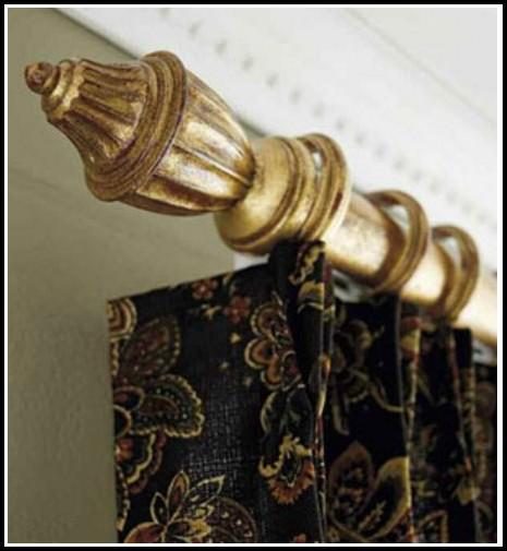 Bay Window Double Curtain Rod Set