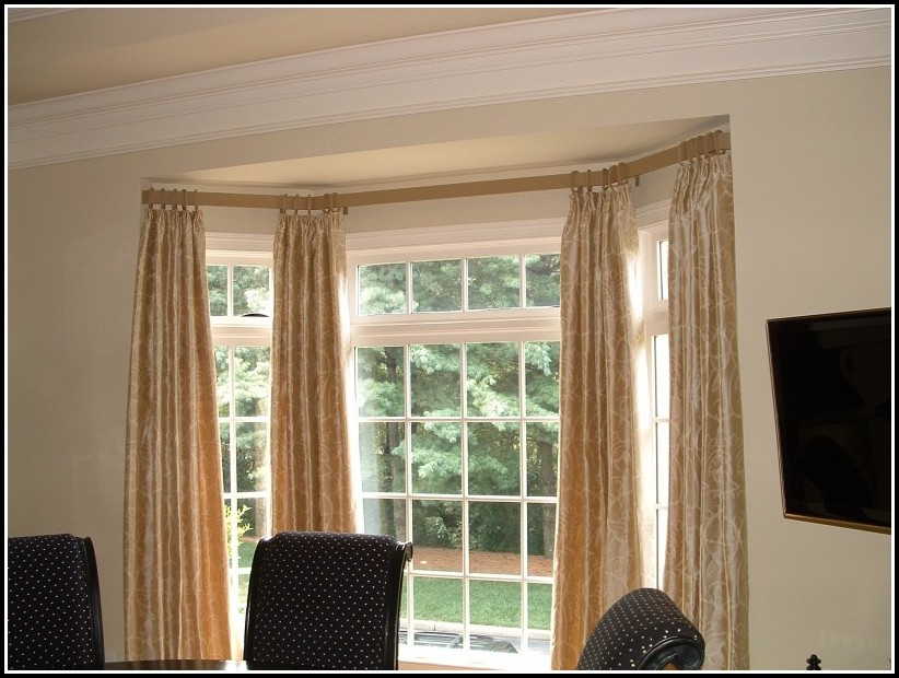 Bay Window Double Curtain Rods