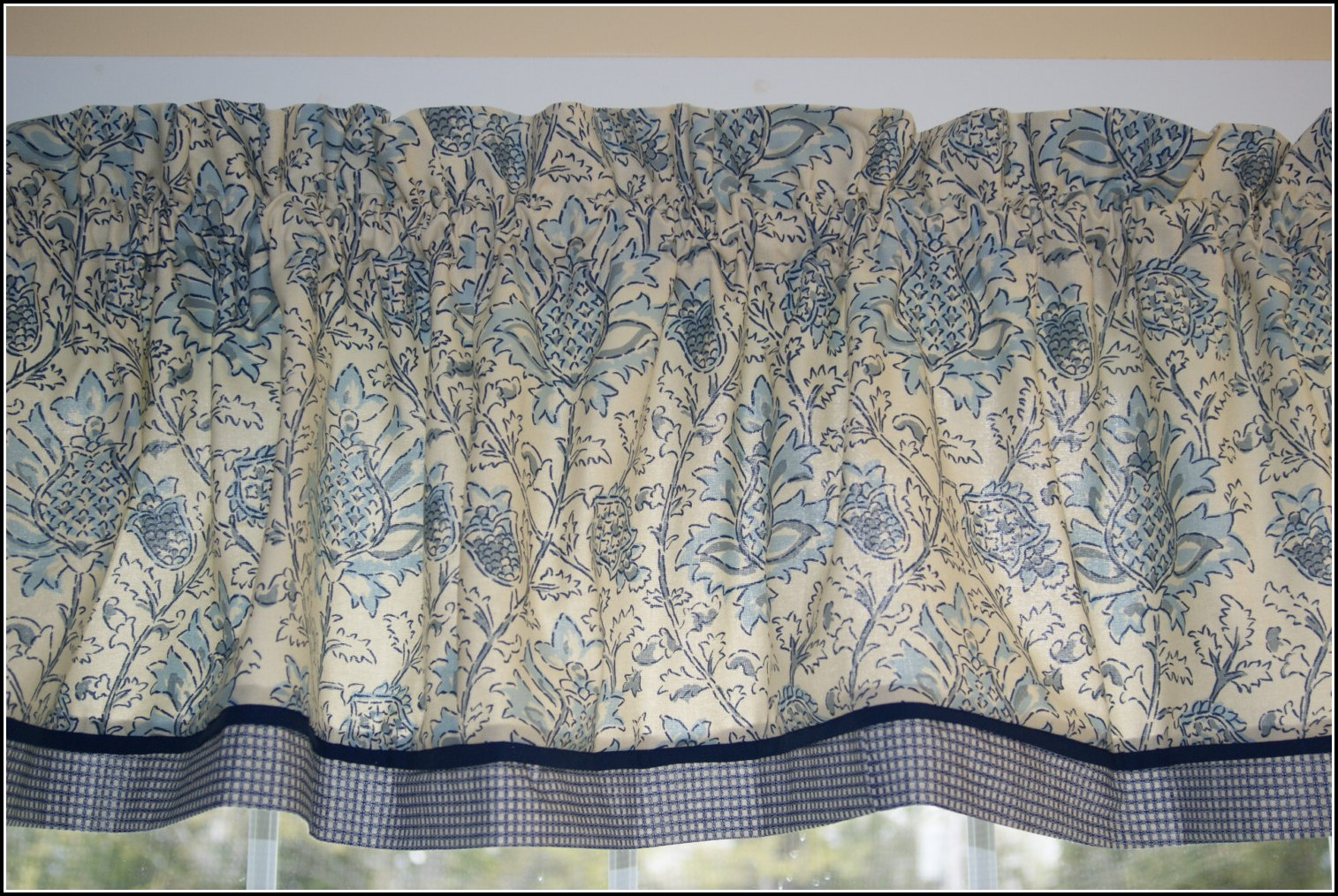 Beige And Duck Egg Blue Curtains