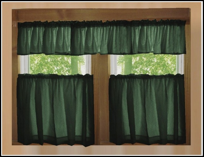 Black And Green Kitchen Curtains