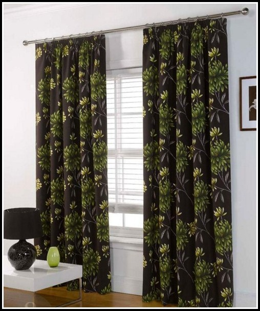 Black And Lime Green Curtains