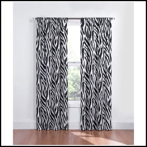 Black And White Animal Print Curtains