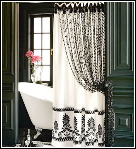 Black And White Bathroom Curtains For Windows