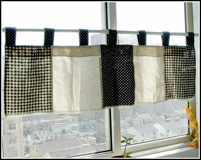 Black And White Checkered Flag Curtains