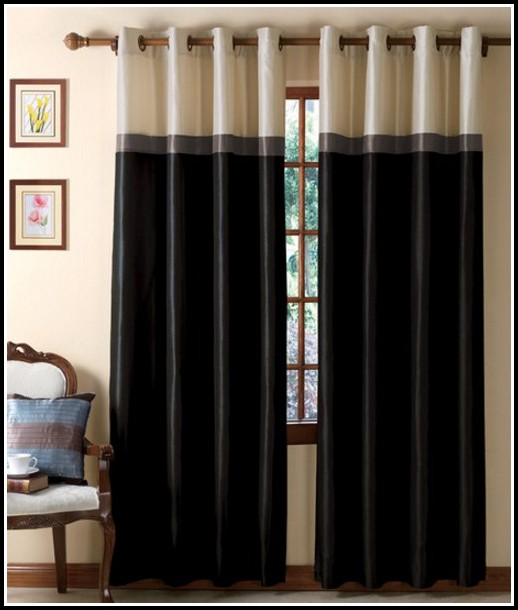 Black Blackout Curtain Panels