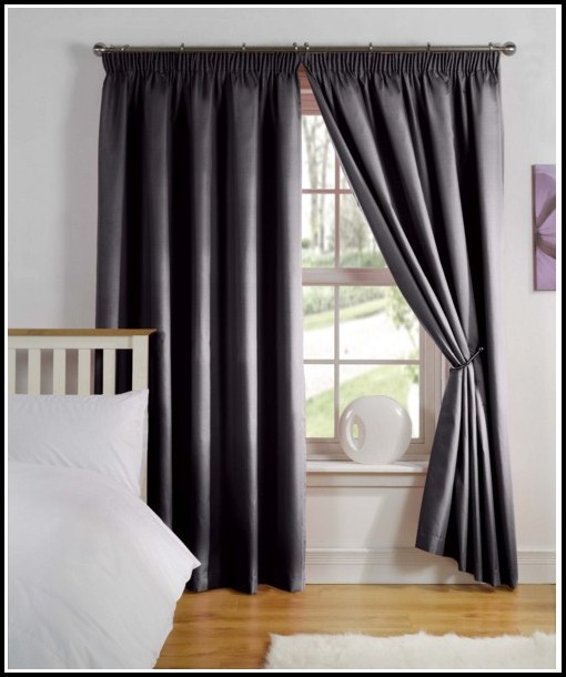 Black Tab Top Voile Curtains
