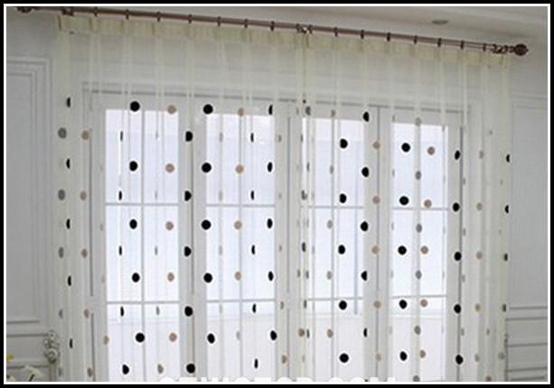 Black White Polka Dot Curtain Panels