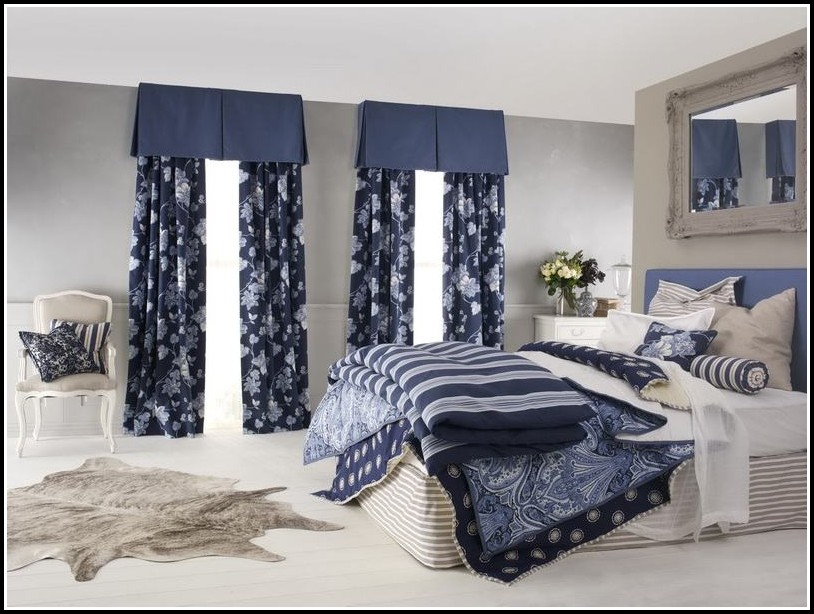 Blue And White Striped Curtain Panels