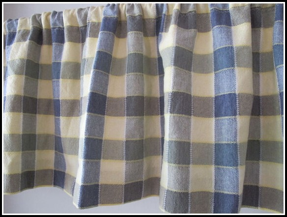 Blue Yellow And White Kitchen Curtains