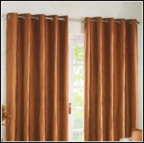Burnt Orange And Red Curtains
