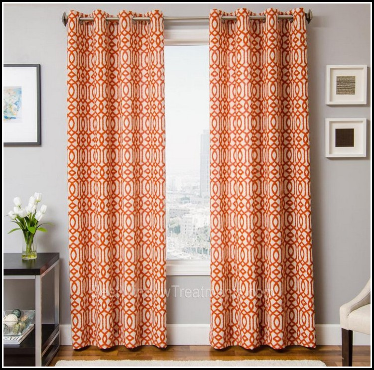 Burnt Orange Kitchen Curtains