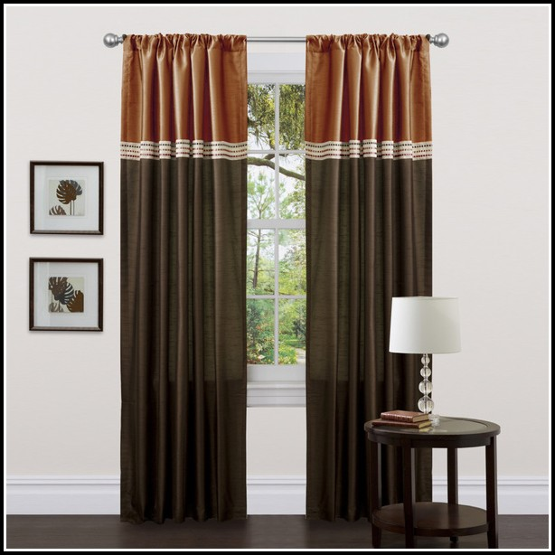 Chocolate Brown Curtain Panels