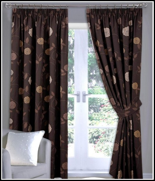 Chocolate Brown Sheer Curtain Panels