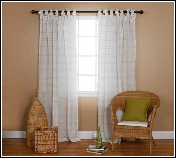 Cream Linen Tab Top Curtains