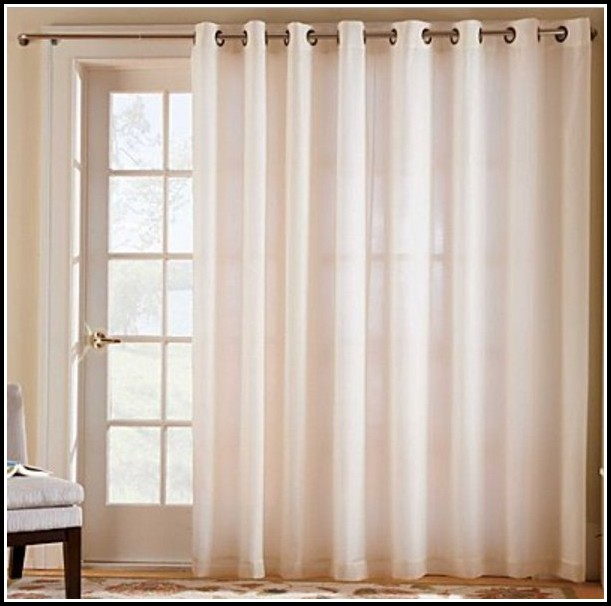 Crushed Sheer Voile Grommet Top Curtains