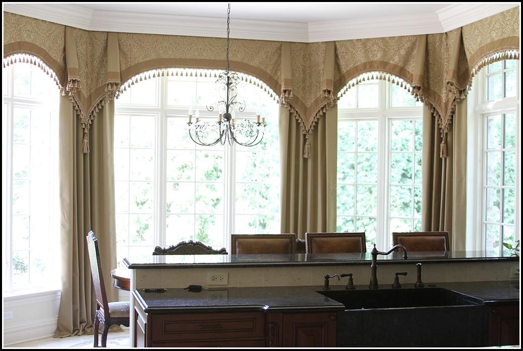 Curtains Around A Bay Window