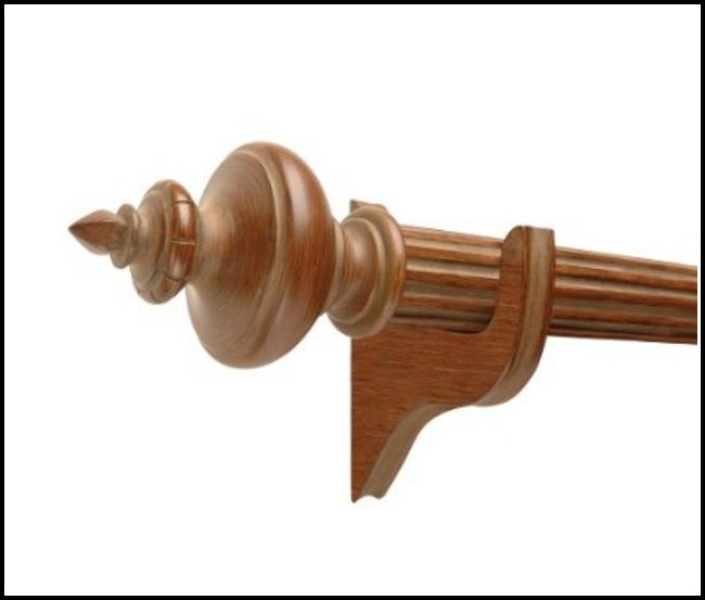 Decorative Wood Curtain Rods Finials