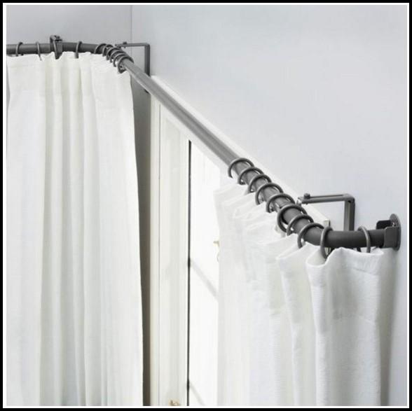 Double Bay Window Curtain Rod