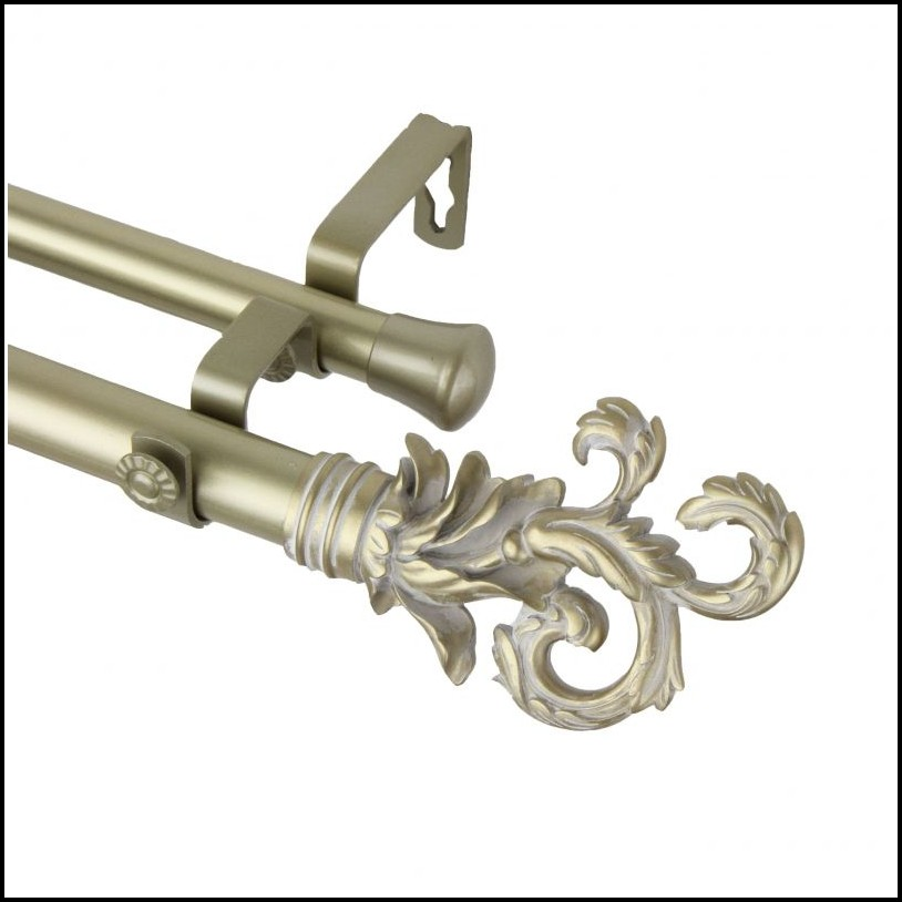 Double Hanging Curtain Rod Hardware Set