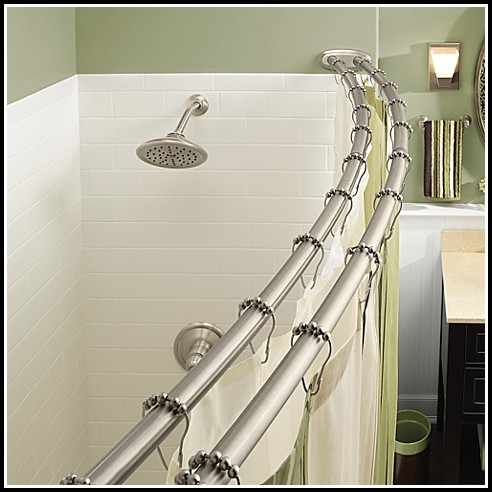 Double Shower Curtain Rod Oil Rubbed Bronze
