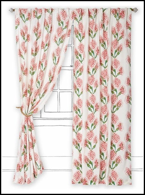 Duck Egg Blue And Pink Curtains