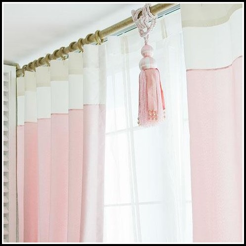 Dusty Pink Faux Silk Curtains