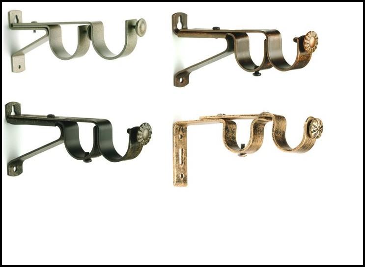 Extendable Double Curtain Rod Brackets