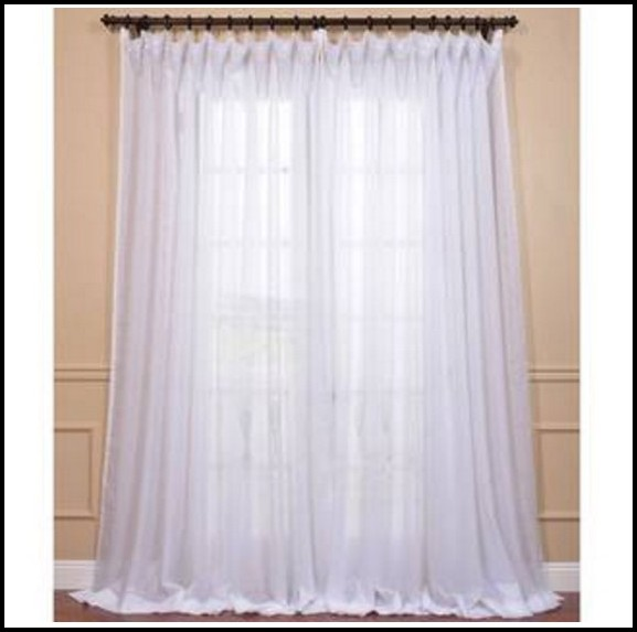 Extra Long White Voile Curtains